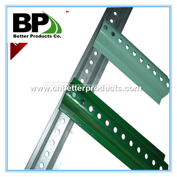 perforated steel square tube sign post for stop warning sign Image