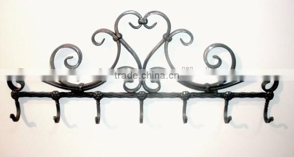 shiny antique big metal wall hangers for home used