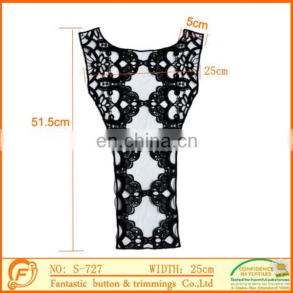 white color organza lace collar trimming for ladies dress in high quality