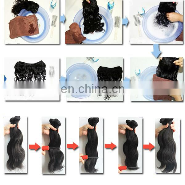 Factory hair wholesale top quality human hair last long 32 inch curly hair extensions