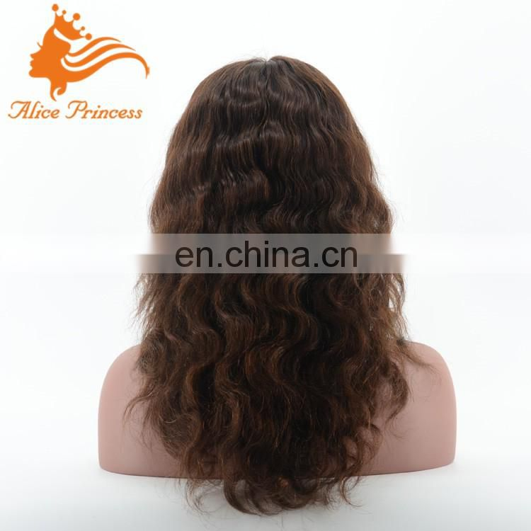 8A Hot Selling Factory Cheap Unprocessed Body Wave Elastic Band Brazilian Human Hair Glueless Full Lace Wig