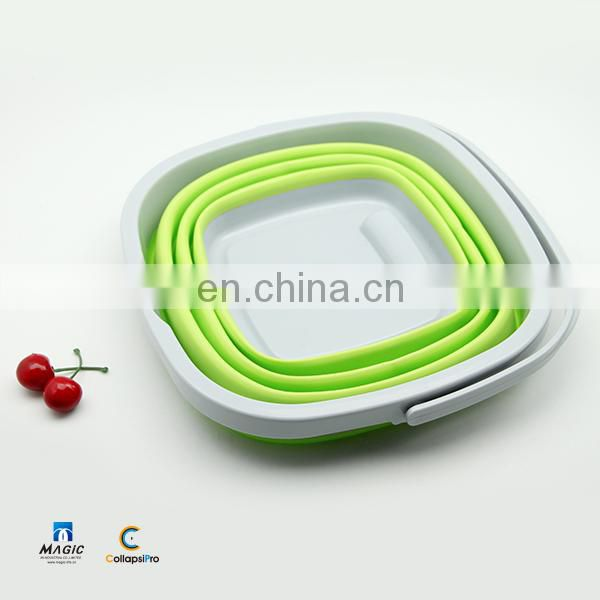 10L Square Collapsible Plastic Bucket