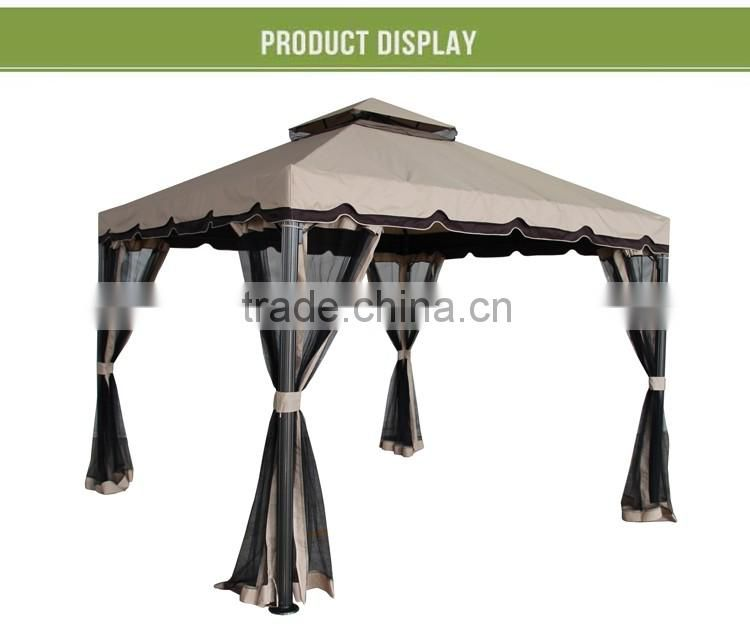Easy assembling outdoor new design Rome garden luxury gazebo with mosquito net
