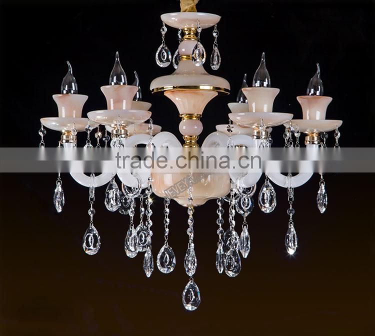 Hot Selling 6/8/10 Light Pendant Chandelier First-degree K9 Crystal Luxury Living Room Chandelier