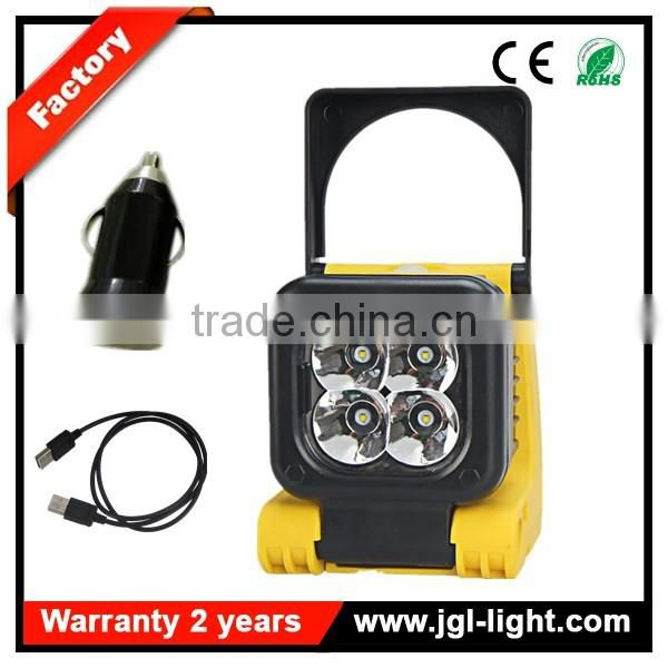 fire resistant emergency light with rechargeable magnetic rotating light 5JG-IL4001
