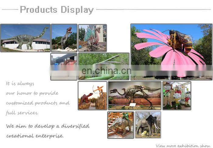 Animal theme park decoration lifesize artificial animal