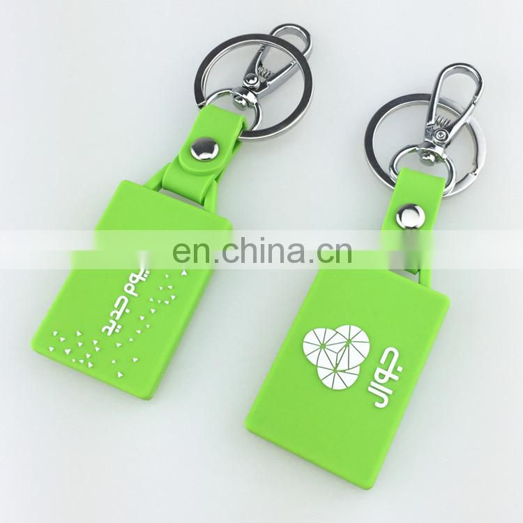Custom design branded 2d 3d plastic key chain ring holder rubber soft PVC keychain