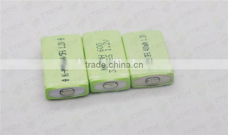 NIMH battery 3/5F6 600mah 1.2v battery rechargeable bettery