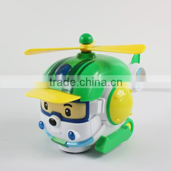 Top selling plastic toys battery operated plane with light&music