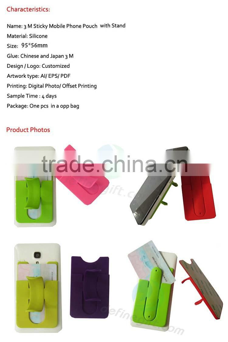 New Multi Function Silicon Pouch Pocket Silicone Smartphone Wallet With Stand & Cord Organizer