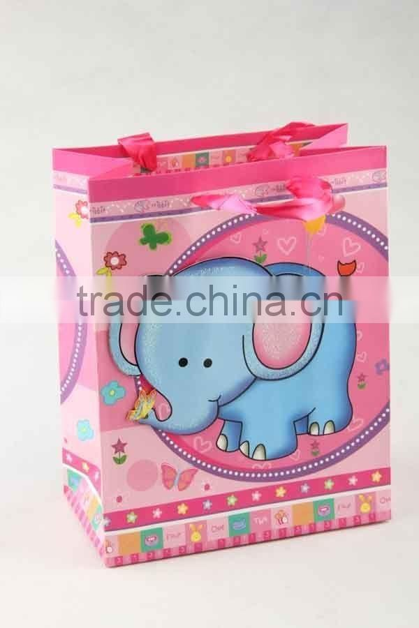 Printed Foldable Gift Bag With 3D Animal Designs/ Shopping Bag