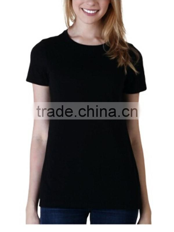 Women's 100%Cotton Black T-shirt