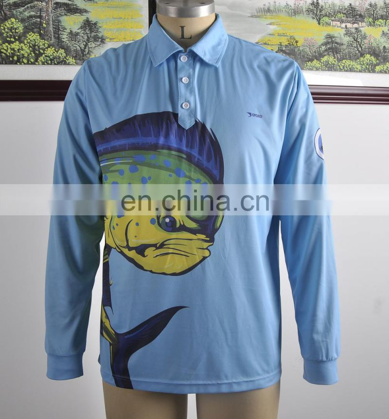 Fashion Custom Sublimation New Design Tournament Fishing Jerseys
