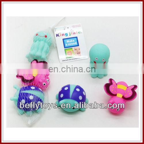 Eco baby animal toys with whistle bath toy duck