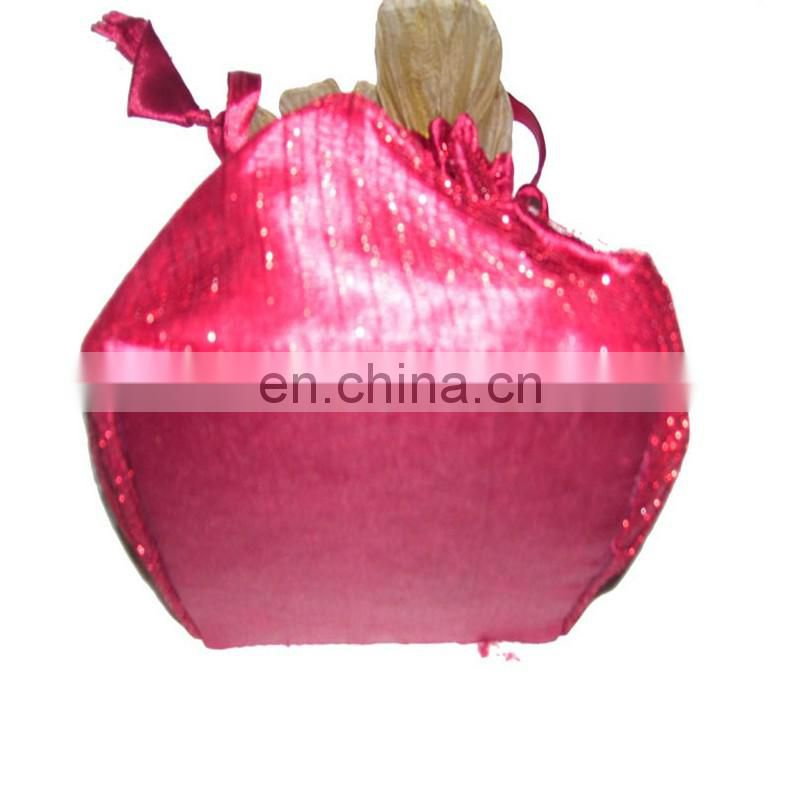 SATIN POUCH WITH NET