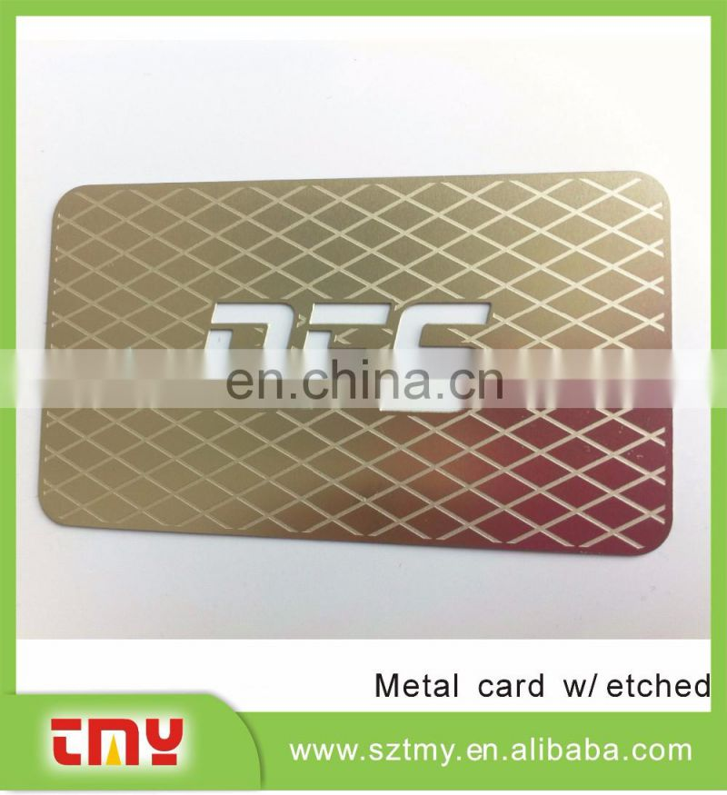 Lunuxry laser cut metal business card with competitive price