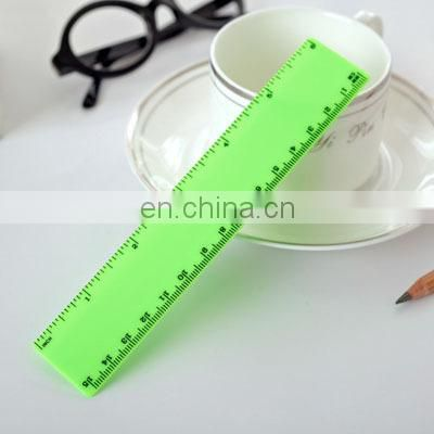 Custom logo printed ruler in inches and cm to print