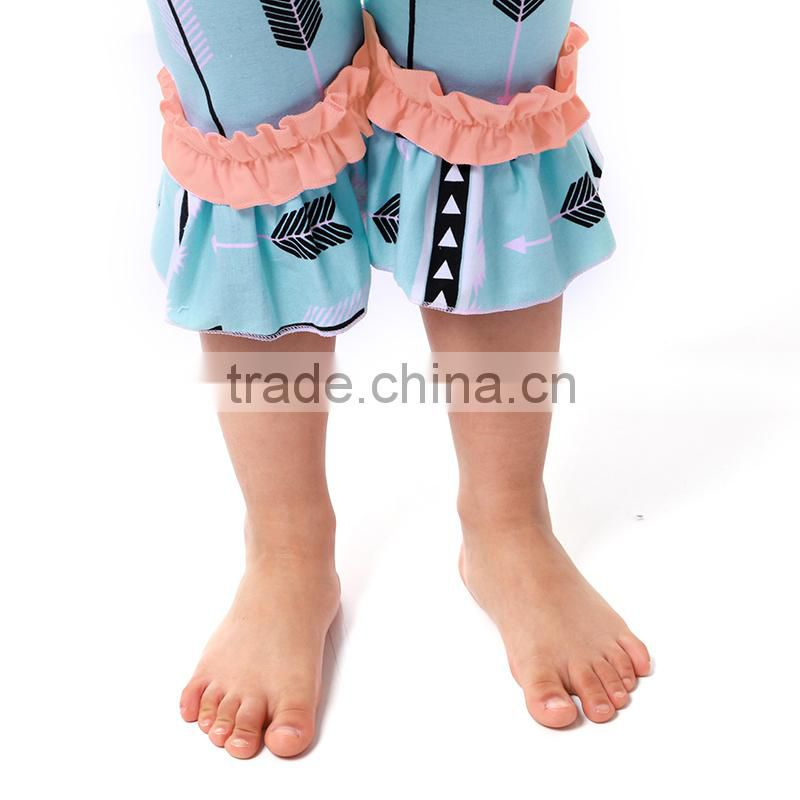 Girl boutique clothing shirt with short pants baby clothing sets girl clothe