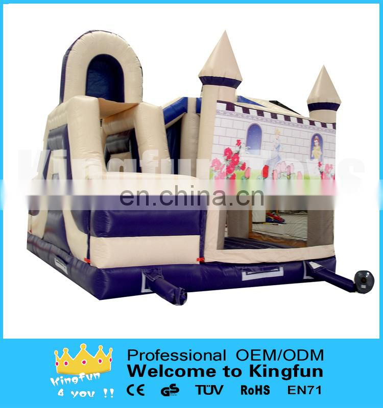 Hot sales inflatable castle with double slides