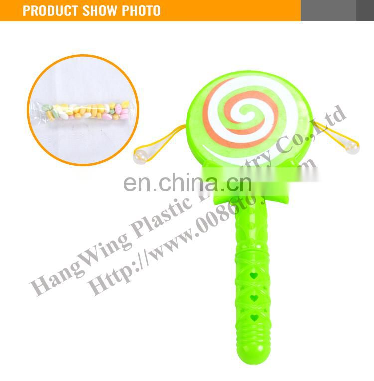 Most Popular Plastic Hand Drum Candy Toy Mini Plastic Toy for Kids
