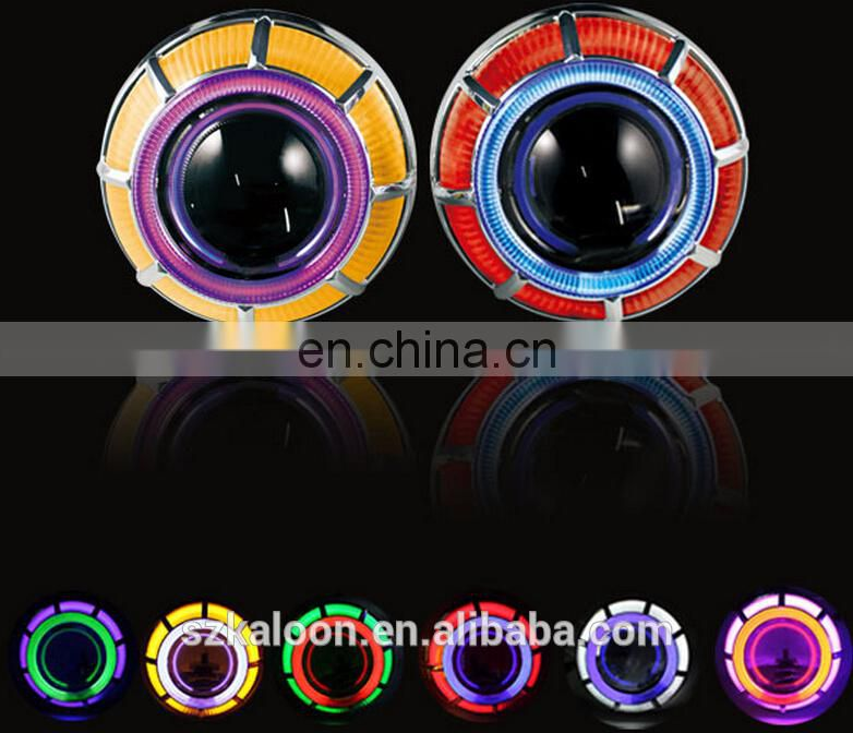 Q5 3.0 inch double angel eyes xenon projector lens kit