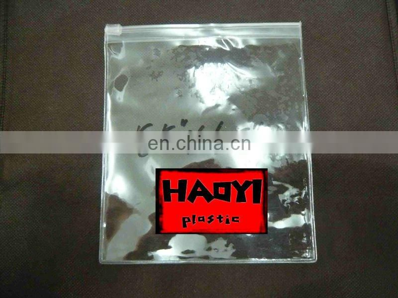 clear waterproof vinyl pvc zipper bags plastic bag china supplier