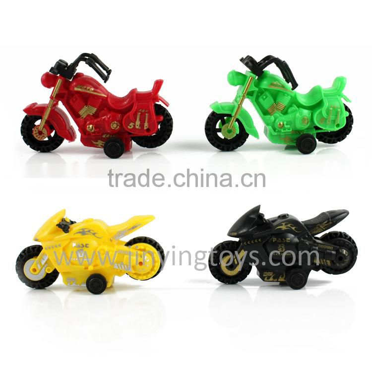 Mini pull back toy motorbike plastic toy