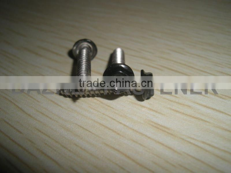 high qualty hex washer PH tapping screw powder sprayed SS