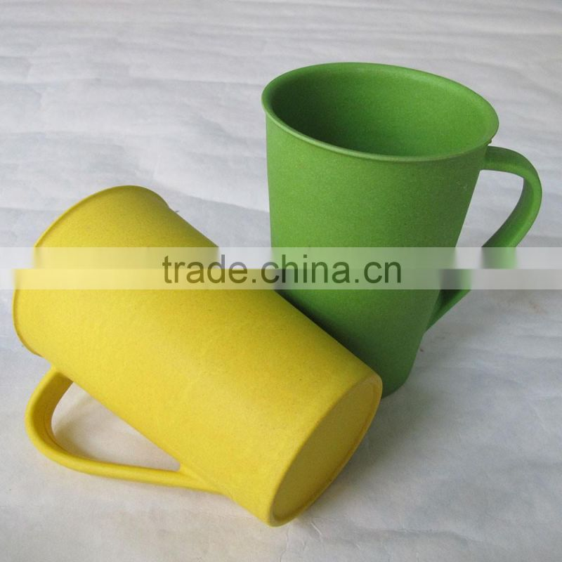 Ecological Conventional Hot design Bamboo fiber biodegradable mugs with handle