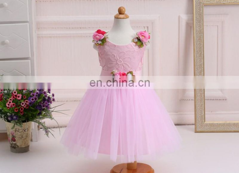 Champagne Rustic Flower Girl Dress Puffy Blossom Slip Frock Church Dress Blessing Gown