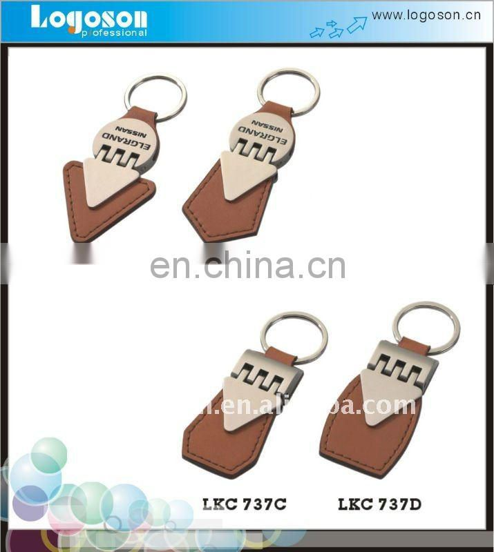2018 Customised make embossed leather keychain