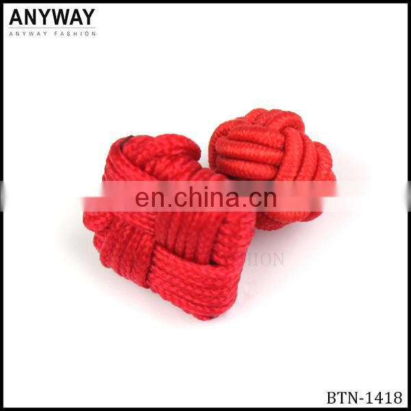 Red Elastic Fabric Covered Button for Clothes BTN-1418