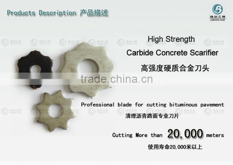 High performance TCT milling and scarifying cutter