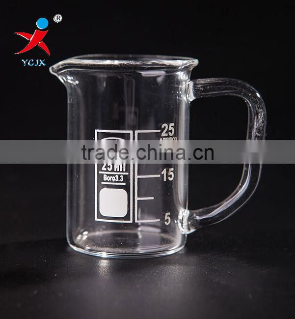 Mini 25ml Pyrex Glass Beakers With Handle