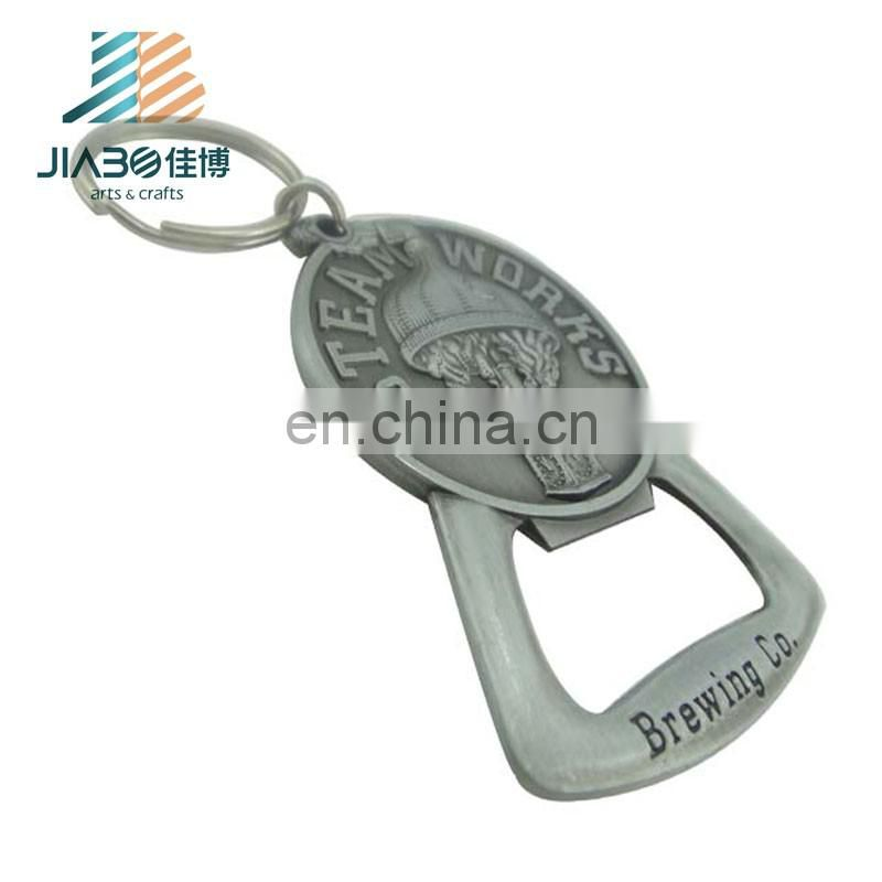 wholesale custom made metal bottle opener keyring