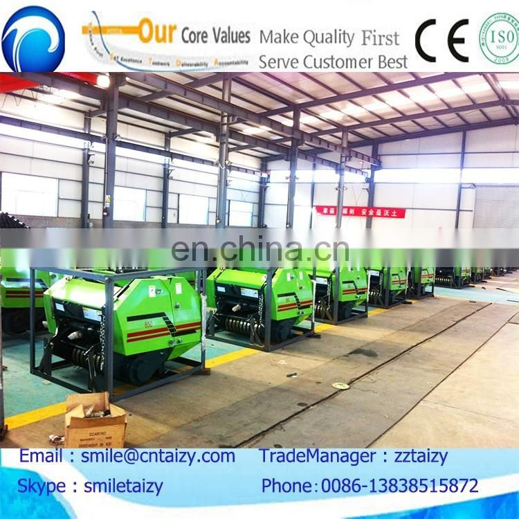 cheap used small corn straw and silage baler machine price