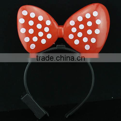 2016 new led light up Mickey Minnie Mouse bows Costume Deluxe plastic Ears Headband