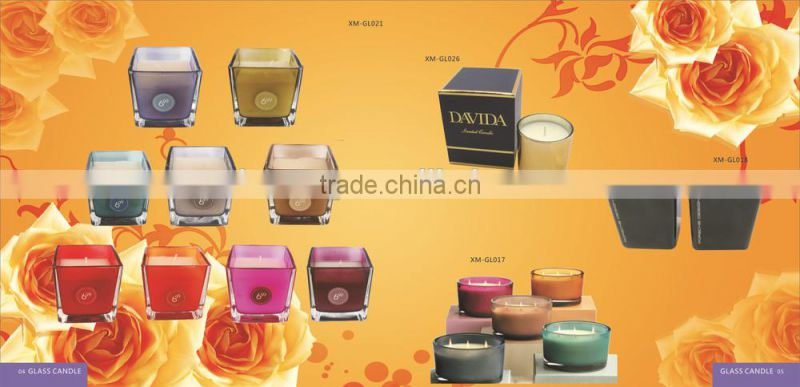 Wholesale tin box round scented candles natural soy wax tin candle 6*4cm Height XM-T005