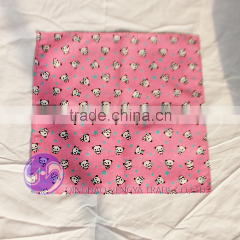 Printed Panda Cotton Lunch Kids Table Napkin for children