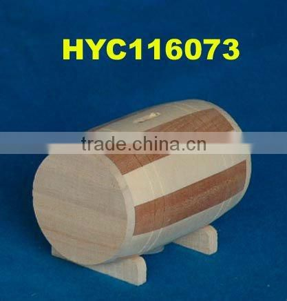 kids unfinished small wooden saving box
