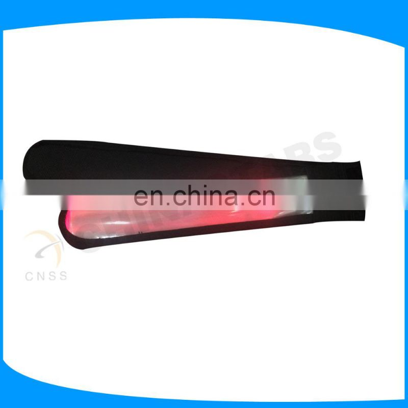 100% PVC LED LIGHT PIPE gradient color armband with reflector