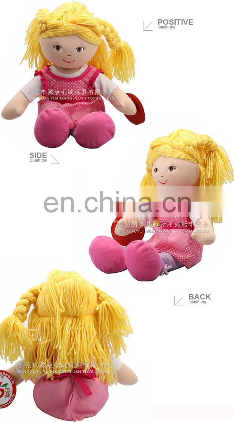ICTI Audits Manufacturer Custom Handmade Plush Cloth Dolls for Kids