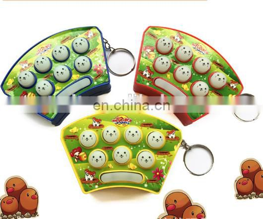 Hot sale mini keychain Whac-a-Mole ,handheld game console keyring