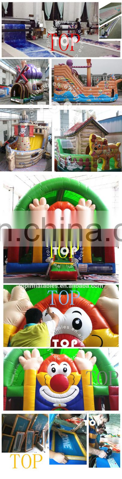 TOPINFLATABLES bouncer, football bouncy house, inflatable castle