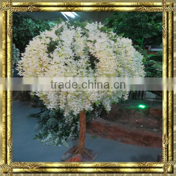 new style wholesale white artificial wisteria flower tree for decoration