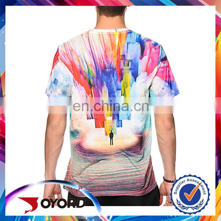 Wholesale latest deisgn color changing printing t shirt men