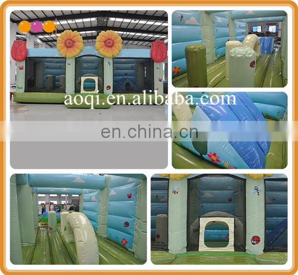 PVC material flower inflatable bouncy moonwalk for sale