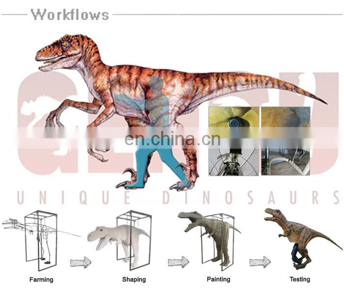 Amusement Park Artificial Life-size Hidden Legs Dinosaur Costume