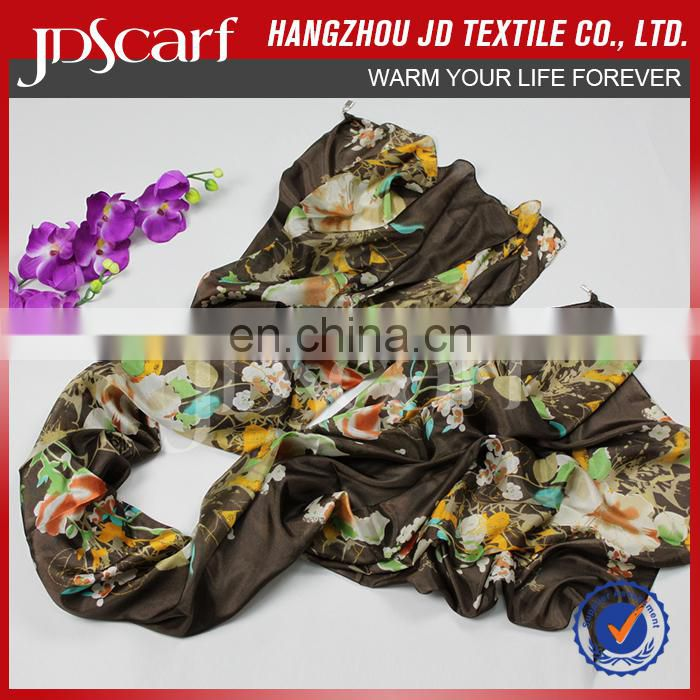 High quality new style new design famous brands silk scarves