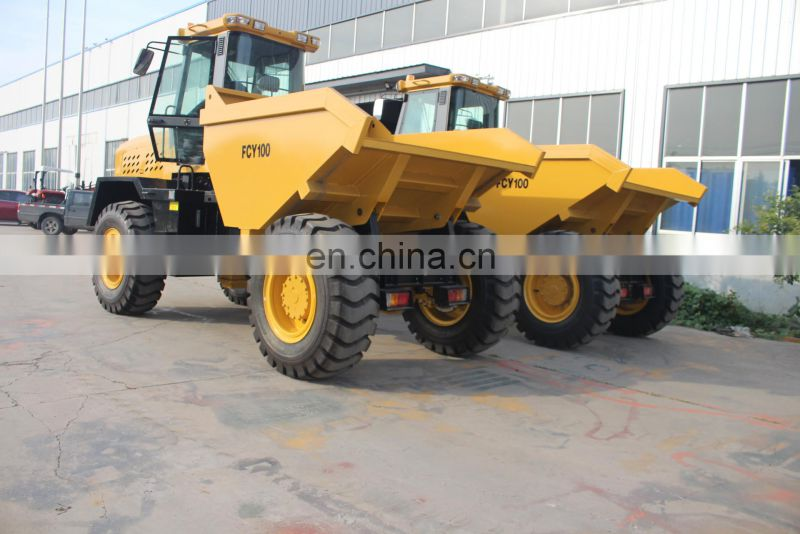 Construction FCY100 10t Loading capacity hydraulic tipper truck 4x4 dump truck Image
